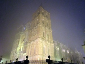 Astorga Cathedral in the fog