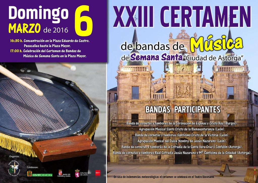 XXIII Certamen de Bandas de Música de Semana Santa 'Ciudad de Astorga'
