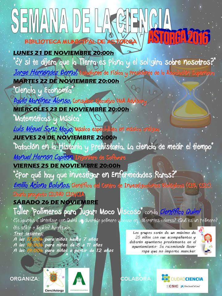 Semana de la Ciencia Astorga 2016