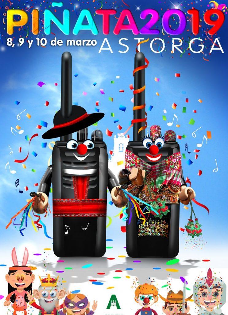 Cartel Piñata de Astorga 2019, el mejor carnaval de León