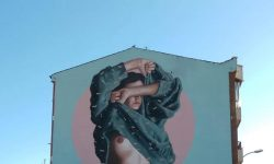"""Yo elijo"", grafiti de la uruguaya Fitz (Florencia Durán) en La Bañeza."