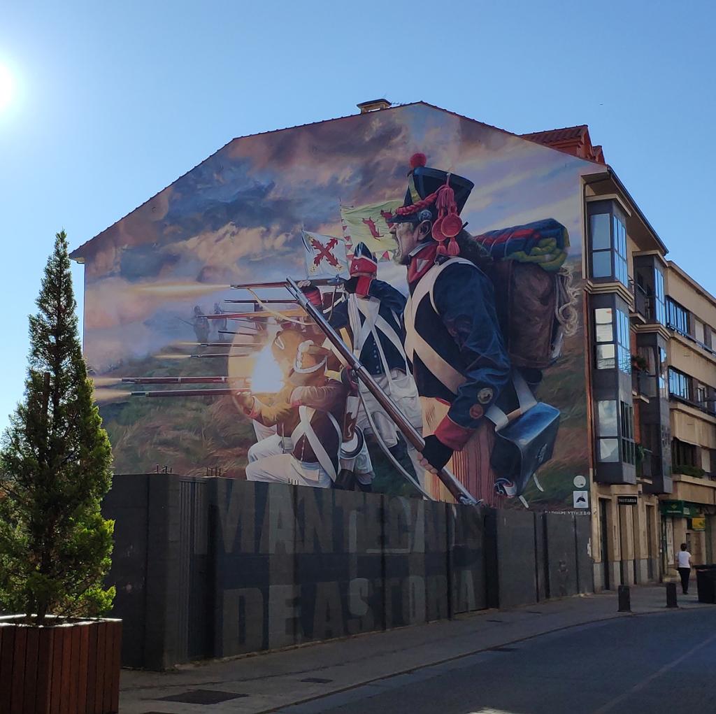 Guerra de la Independencia - arte urbano en Astorga