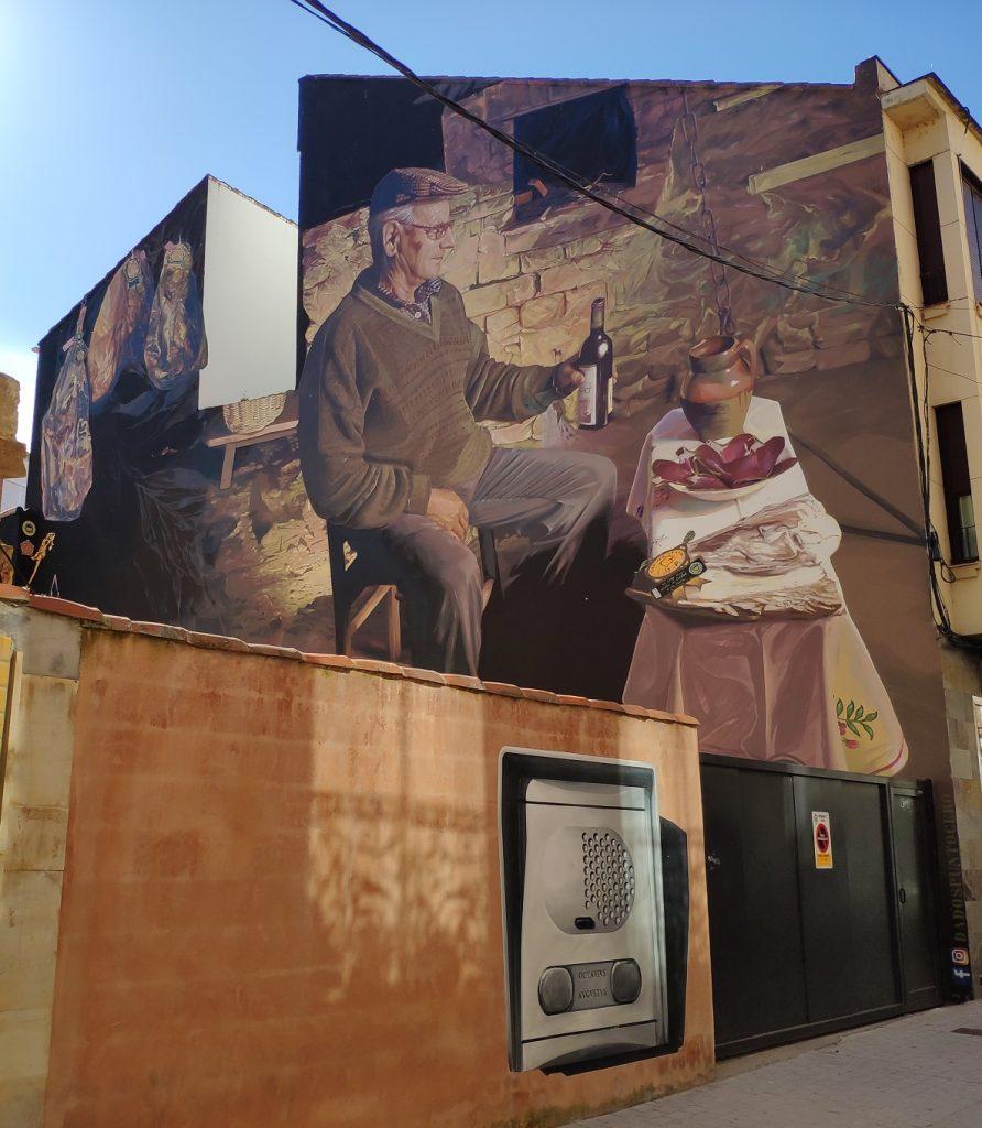 Mural de la Cecina de León (calle Pío Gullón, Astorga)