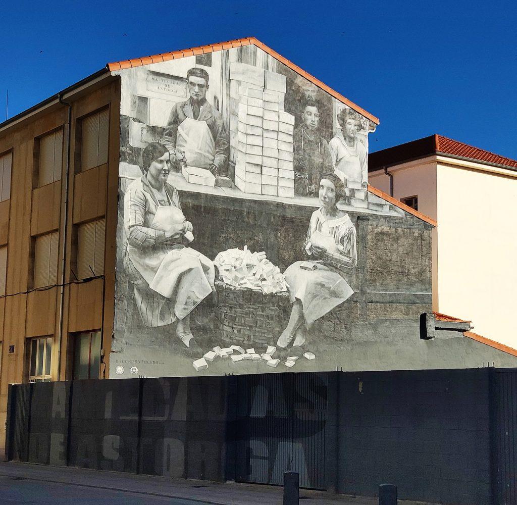 Mural dedicado a las mantecadas de Astorga