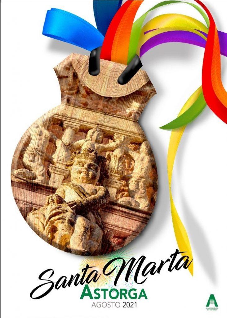Cartel de fiestas de Astorga 2021, obra de César Núñez